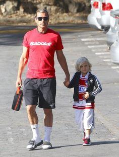 Gavin Rossdale takes his son Zuma to school