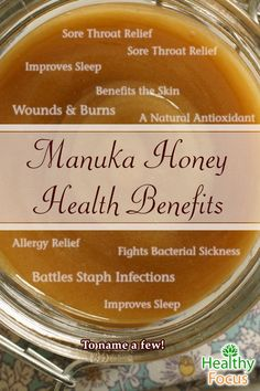 Manuka honey can heal wounds, fight C. Diff, and fight Eczema, Acne and Allergie… - Health Remedies Manuka Honey Health Benefits, Lemon Benefits, Benefits Of Coconut Oil, Sore Throat Relief, Natural Cures, Natural Health, Natural Treatments, Health And Wellness, Health Foods