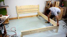 Diy Como hacer una cama de dos plazas de madera pino fácil de hacer Bed Dimensions, Toddler Bed, Storage, Inspiration, Furniture, Home Decor, Sleeper Couch, Wood, Bed Designs