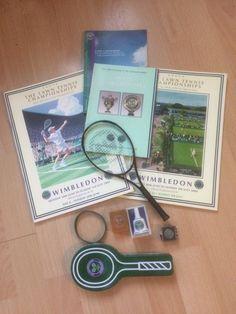 Wimbledon AELTC Tennis Memorabilia Bundle Programmes Badge Bell Wristband Racket | eBay