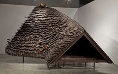 Hirsuta's Rawhide Installation Pavilion Architecture, Space Architecture, Sci Arc, Farm Shed, Organic Modern, Postmodernism, Best Artist, Wood, Thesis