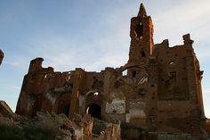 San Martin de Tours Church (built in 14th century, destroyed during WW2) - Belchite,Spain