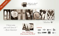 Use the code Mother2016 to receive $15 off a custom frame.  Valid till April 24, 2016 in Canada and the U.S.  www.AlphabetPhotography.com #alphabetphotography #sale #deal #MothersDay #gift Alphabet Photos, Alphabet Art, Letter Art, Alphabet Photography, Mothersday Gift, April 24, Word Art, Custom Framing, Gifts For Mom