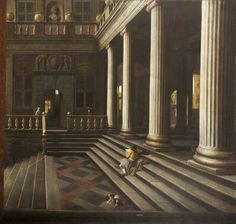 A Perspective View of the Courtyard of a House by Samuel van Hoogstraten, 1664