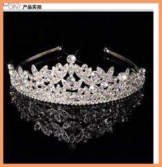 Hot projetos Europeus Rainha de Cristal Tiara Wedding Crown Nupcial Tiara Acessorios Strass Tiaras Coroas Pageant