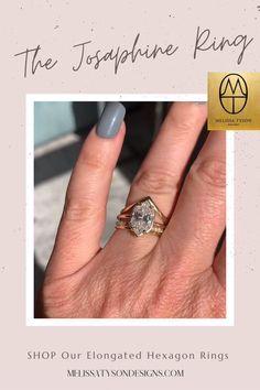Hexagon Engagement Ring, Gemstone Engagement Rings, Designer Engagement Rings, Vintage Engagement Rings, Rose Gold Jewelry, I Love Jewelry, Jewelry Art, Fashion Jewelry, Women Jewelry