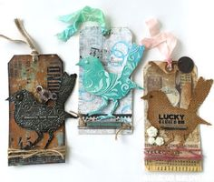 Frilly and Funkie:  Bird tags