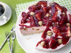 Marmorierte Erdbeertorte - mit Amarettini - smarter - Kalorien: 189 Kcal - Zeit…