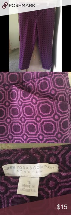 New York and Company Purple Capris Size Curvy 12 The color of these is divine! Marked a 12 but they are a curvy girl's dream- with more than enough room in the hips and legs-  New York and Company Size 12 Re-poshed as I don't have enough curve :( New York & Company Pants Capris