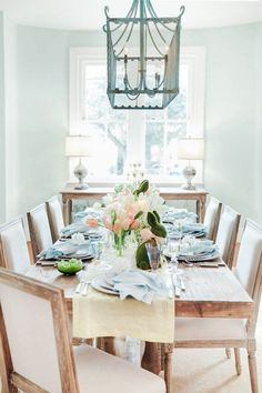 A Sophisticated Easter Table Inspired By The Colors Of Spring. Beautiful & Smart Style Living. Follow @SteinTeamNYC