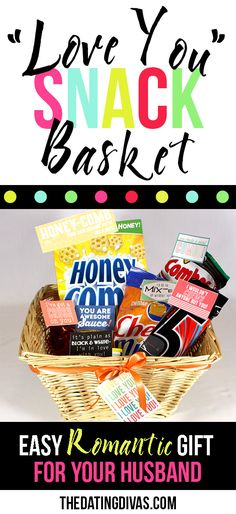 DIY Romantic Gift Basket for Husband or Boyfriend