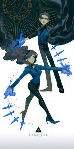 L O V E  R E V E R S E  P I N E S !!!  L O V E !!!! Art by http://twohairs.tumblr.com/