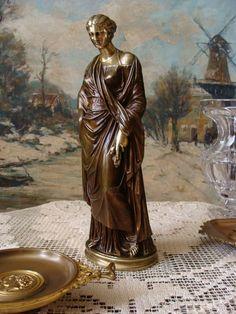 Antiquitäten & Kunst Empire Bonbonniere Bronze Männerkopf Um 18-19jh