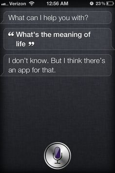 Siri changes her mind on which smartphone is the best ever The virtual personal assistant said last week that the Nokia Lumia 900 was the best smartphone ever, but now, she's changing her tune. Siri Says, Siri Funny, Whale Song, Things To Ask Siri, Funny Questions, T 4, Laugh Out Loud, Funny Texts, Funny Pranks