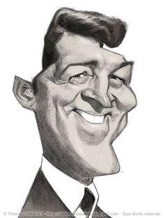 (1) Dean Martin First sketch Graphite, ballpoint... - Thierry Coquelet
