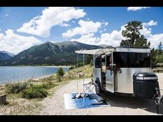 Walk Through 2017 Airstream Basecamp 16 Small Light Weight Camping Travel Trailer - YouTube