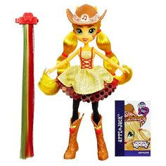 My Little Pony Equestria Girls Rainbow Rocks Applejack Rockin' Hairstyle Doll | shopswell