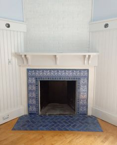 Victorian tiles Fireplace tiles Feature Slate Panels