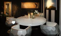 Seyie Design - Glamorous dining room design in Los Angeles, CA #interiordesign #interiors #luxury #fashionable #chic