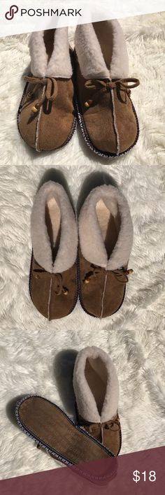 Size 9/10 Madden Girl Moccasin Slippers Native American inspired faux shearling slippers. Never worn. Size large 9/10. Suede feel on outside. Lightweight. Soft bottom. Madden Girl Shoes Slippers