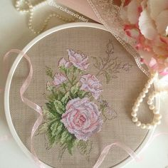 Pattern available in: Mon Journal au point de croix by Sophie Bester-Baque and Veronique Enginger  / White Roses