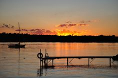 the dock @ sunset  -  photo by Jackie Noel