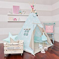 Large Set of Teepee Kids Play Tent Tipi - Sky Beige Teepee Play Tent, Teepee Kids, Teepees, Childrens Teepee, Deco Kids, Little Girl Rooms, Nursery Design, Kid Spaces, Girl Nursery
