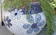 Israela vase - mosaic vase made of clean ceramics, Armenian ceramics and broken glasses