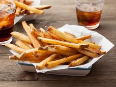 Delaware's Vinegar French Fries -- These tangy boardwalk-inspired spuds are soaked in vinegar, refrigerated and then fried to a golden brown finish. #AcrosstheCountry