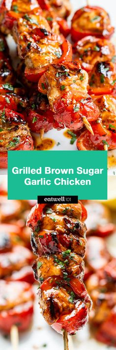 Grilled Brown Sugar Garlic Chicken - Juicy tender and so delicious! Ideal for a quick dinner any night of the week.