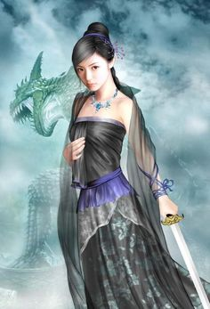 He spread star-dust on my life. Geisha Kunst, Geisha Art, Chinese Drawings, Chinese Art, Chinese Painting, Fantasy Art Women, Fantasy Girl, Fantasy Female Warrior, Female Art