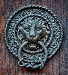 Bon Lion Head Door Knocker, Black Forest, Germany