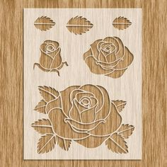 This Rose Flower Stencil - Sku x is just one of the custom, handmade pieces you'll find in our stencils shops. Stencil Fabric, Stencil Printing, Stencil Patterns, Stencil Diy, Stencil Designs, Fabric Painting, Flower Stencils, Stencil Rosa, Fabric Paint Designs