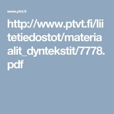 Linkkejä työnhaun ja yrittäjyyden tueksi  PTVT