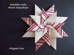Origami e Fleurogami: Mandala di Carla UR Fleurogami Mehr (diy paper folding) Origami Paper Folding, Paper Crafts Origami, Diy Origami, Diy Paper, Paper Crafting, Dollar Origami, Origami Ball, Origami Star Box, Origami Fish