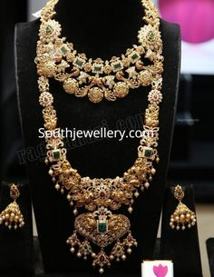 Gold Wedding Jewelry, Bridal Jewelry Sets, Gold Jewelry, Gold Necklaces, Unique Jewelry, Indian Jewelry Sets, India Jewelry, Gold Jewellery Design, Necklace Designs