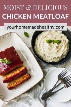 This is not your grandma's average meatloaf recipe! Healthy chicken meatloaf with hidden veggies is an excellent dinner to serve your entire family. It utilizes fresh and healthy ingredients, so you know your family will be eating a delicious, yet nutritious meal. You can easily substitute the ground chicken for ground turkey. With the added vegetables, it stays soft and moist with the best punch of flavor. Ground Chicken Meatloaf, Ground Chicken Recipes, Healthy Chicken Recipes, Hidden Veggies, Ground Turkey, Nutritious Meals, Healthy Dinner Recipes, Punch, Stuffed Peppers