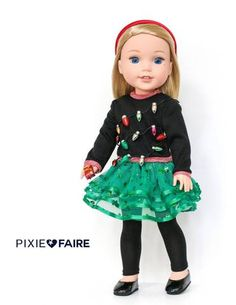 Karen Lorraine Design Dance Time Doll Clothes Pattern for 14 - inch dolls My American Girl Doll, American Girl Clothes, Girl Doll Clothes, Doll Clothes Patterns, Clothing Patterns, Dress Patterns, Ag Dolls, Girl Dolls, Kids Outfits Girls