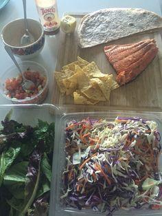 Wild coho salmon fish tacos.