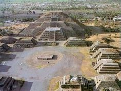 Here is the Pyramid of the Moon.  Smaller than the Pyramid of the Sun.  Located at the Teotihuacan ruins northeast of D.F.