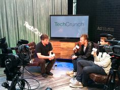 Our creative directors, David and Victor with Andrew Keen @ SXSW for #Techchrunch.