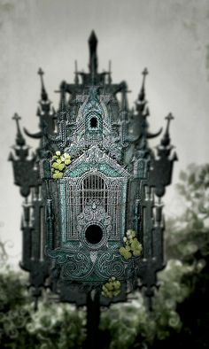 Antique Victorian Birdhouse. Beautiful! If I was a bird, I would totally live there.