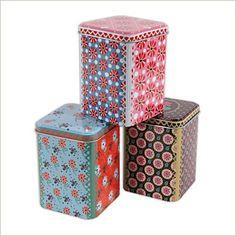 Boîtes en métal assorties, #decorative #metal #tins