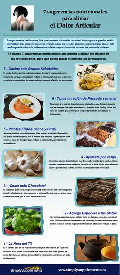 #Infografia 7 sugerencias para aliviar el dolor articular via @SimplySuppsES