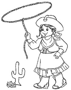 cowgirl princess coloring pages - photo#15