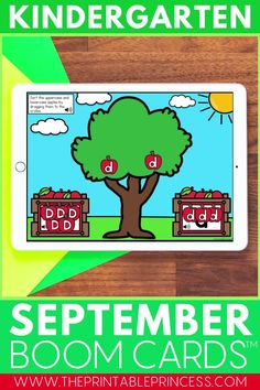 Whether from at home distance learning or in school technology centers, help your students practice a variety of beginning of the year Kindergarten skills while having fun! This Back to School Kindergarten Boom Cards bundle includes 8 FULL decks perfect for the beginning of the year with a focus on letter and number recognition, color words, upper and lowercase letter practice, counting and more! Kindergarten Math Activities, Word Work Activities, Letter Activities, Preschool Classroom, Classroom Ideas, Counting Activities, Literacy, Teaching Numbers, Teaching Jobs