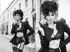 Belmor by Slinky-Aleksandr Lishchinskiy, via Behance. Lingerie & cigarettes