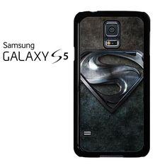 Black Superman Logo Shield Samsung Galaxy S5 Case