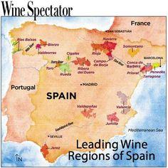 Wine Regions of Spain Wine Facts, Chateauneuf Du Pape, Wine Vineyards, Wine Education, Spanish Wine, Vides, Wine Guide, In Vino Veritas, Italian Wine