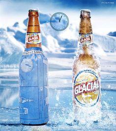 わずか10分でビールをキンキンに冷やすことができる雑誌広告 『氷に塩をかけると温度が下がる原理』を活用して、ビールを急速に冷やすことができる。